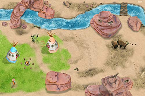 Stikkipix Indianer Spielteppich | SM17 | Hochwertige Spiel-Matte für das Kinder-Zimmer | ideales Zubehör zu Spiel-Figuren von Schleich, Playmobil, Papo, Bullyland & Co | 150 x 100 cm