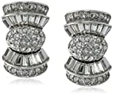 Ben-Amun Jewelry Deco Crystal Bow Clip-On Earrings, regular