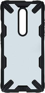 جراب شفاف من رينجكي مقاوم للصدمات لهاتف ون بلس 7 برو - اسود وشفاف