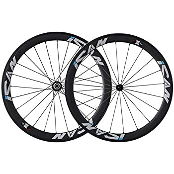 ICANIAN 700C Ruedas de Bicicleta de Carretera de Carbono 50mm ...