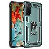 AFARER Hülle Kompatibel Mit Samsung Galaxy S21 5G/Samsung Galaxy S30 Militärische Handyhülle Jade Green