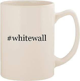 #whitewall - White Hashtag 14oz Ceramic Statesman Coffee Mug Cup