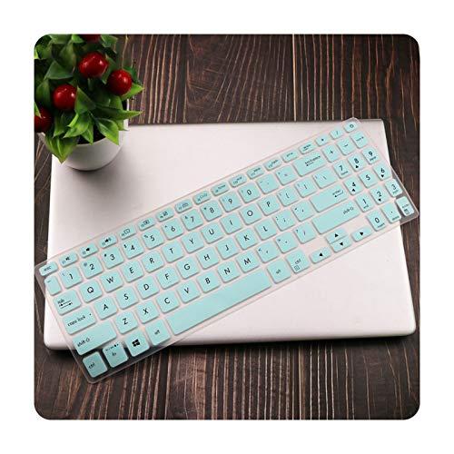 Funda de teclado de 15,6 pulgadas para Asus VivoBook 15 X512FL X512UF X512UA X512FA X512da X512UB F512 F512U F512DA X512 Y5000U-blanco azul