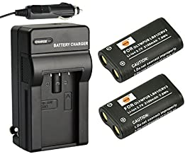 DSTE Replacement for 2X CR-V3 Battery + DC78 Travel and Car Charger Adapter Compatible Olympus C3000 C3040 C-40Z 2100UZ 3030 3040Z 4000 5050 740 750 730 4040 3020 D390 D510 Camera as LB-01