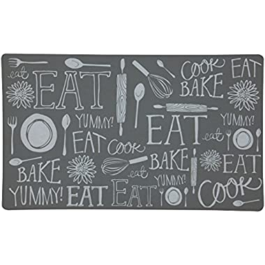 Mohawk Home Comfortable Hand Lettered Kitchen Mat, 18 x 30 Inch, Gray