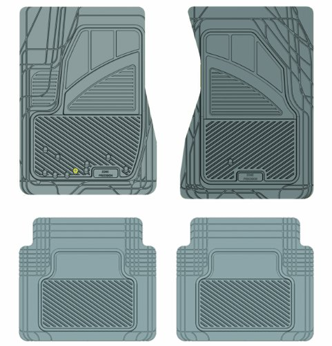 Koolatron Pants Saver Custom Fit 4 Piece All Weather Car Mat for Select Ford Crown Victoria Models (Grey)