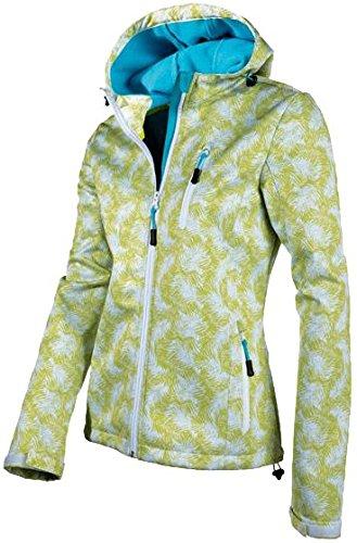 CRIVIT® Damen Softshelljacke, mit Kapuze, Gr. S (36/38), grün/weiß gemustert