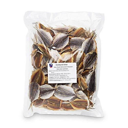 Goldband Selar Original (1kg XXL Pack) - natürlicher Snack getrocknet & gesalzen I Low Carb I High Protein I Jerky I Fitness Snack I Trockenfisch reich an Omega-3 I Knabberspaß für Groß und Klein