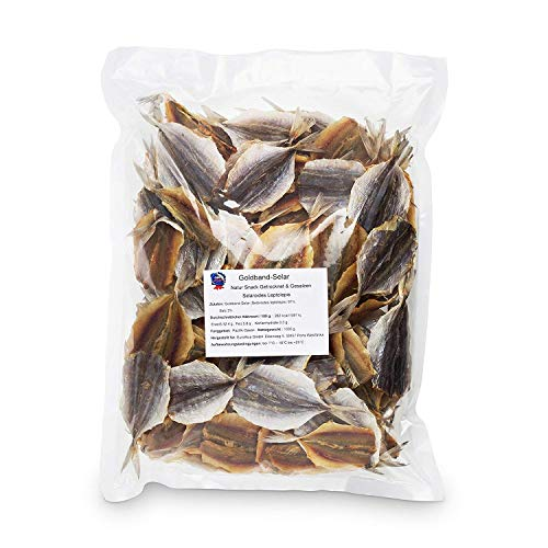 Goldband Selar Original - (1 x 1kg Pack) Natur Snack getrocknet & gesalzen I Low Carb I High Protein Fish Jerky I Fitness Snack I Trockenfisch reich an Omega - 3- ohne ZusatzstoffeIFür Männer & Frauen