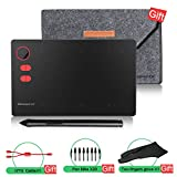 Drawing Tablet 10moons G20 Larger Active Area with Roller Key Digital Graphic Tablet 8192 Levels No...