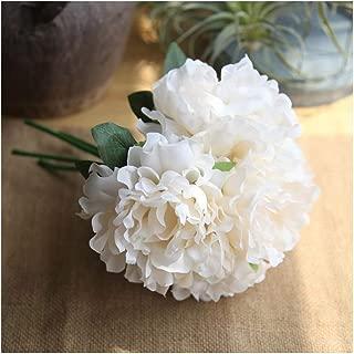 Artfen 5 Heads Artificial Peony Silk Flower Fake Hydrangea Flowers Home Bridal Wedding Party Festival Bar Decor Approx 7.5