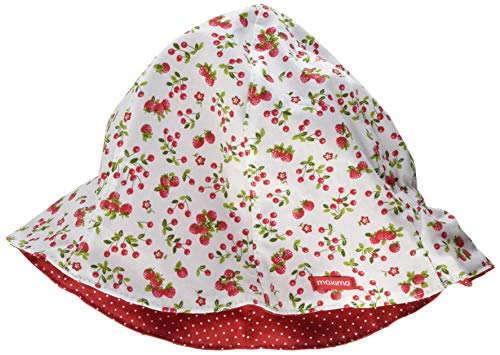 maximo Mädchen Hut Mütze, Mehrfarbig (hellgrün-rot-erdbeeren/rot 3403), (Herstellergröße: 53)