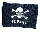 FC St. Pauli - Totenkopf, Fahne klein, Schwarz, 30 x 40 cm