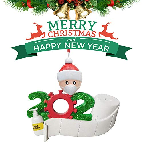 2020 Christmas Ornaments Quarantine Survivor Family-Christmas Decorations Clearance Personalized for Gift (1-7 Members) Christmas Tree Hanging Ornament DIY Creative Decorations Indoor Party (1-family)