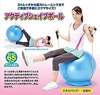 バランスボール トレーニング 手軽に運動不足を解消したい方 美容健康 バランスボール アクティブシェイプボール(台座・エキスパンダー付)