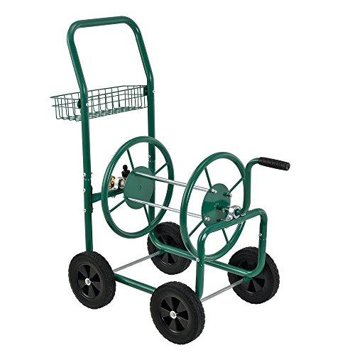 pro.tec] Metall Schlauchwagen für 3/4' Schlauch - bis zu 70m Schlauch - Schlauchtrommel Aufroller Gartenschlauch