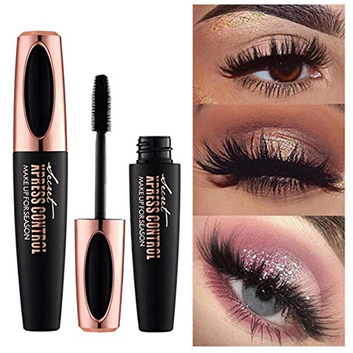Upgrade 4D Silk Fiber Eyelash Mascara, Extra Long Lash Lengthening & Volume Eyelash Mascara Waterproof Long Lasting Naturally Eye Makeup Waterproof