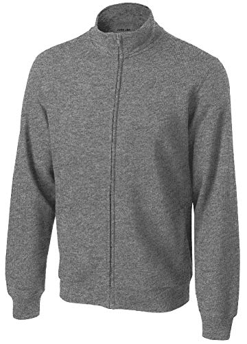 Joe's USA - Mens Athletic Full-Zip Sweatshirt in Adult Sizes: L