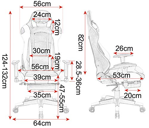 WOLTU Bürostuhl Chefsessel Racing Stuhl Bild 6*
