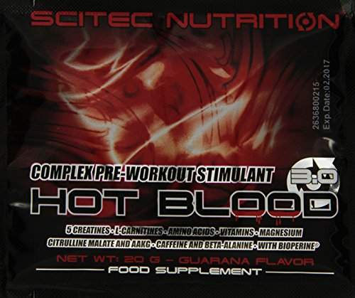 Scitec Nutrition Pre-workout  Hot Blood Box, Guarana, 500g