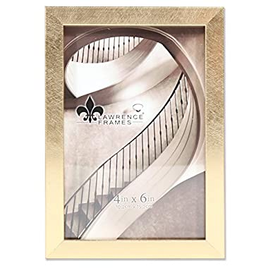 Lawrence Frames Galvanized Expressions 4x6 Chloe Contemporary Gold Picture Frame