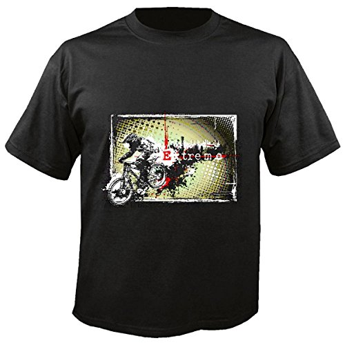 T-shirt, voor mountainbike, racefiets, racefiets, mountainbike, racefiets, mountainbike, racesport, mountainbike, tochten, BTT, shirt in zwart
