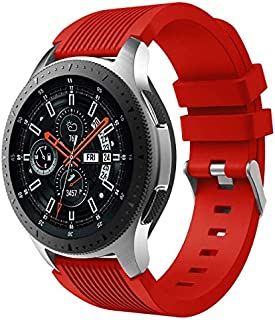Silicone Wrist Band Strap for Samsung Galaxy Watch 46mm -Red