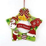 LYFWL Corona De Navidad Decoración Creativa De La Navidad Que Cuelga De Navidad Puerta Corona De Papel Colgando Hotel Arcade Decoración De La Ventana Tridimensional E-Collage Corona De Boda