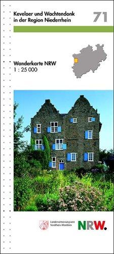 Kevelaer und Wachtendonk in der Region Niederrein. Wanderkarte NRW 1 : 25 000