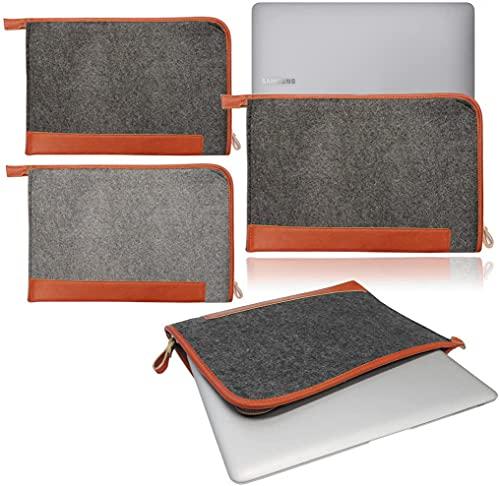 Funda para Samsung Galaxy Book Pro de 13,3 pulgadas (2021), color gris oscuro y marrón
