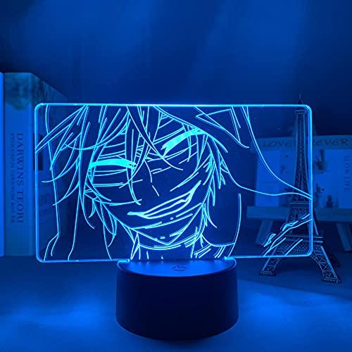 Anime Light 3D Ángel de la Muerte para niños dormitorio decoración manga regalo para él dormitorio lámpara de escritorio Ángel de la Muerte