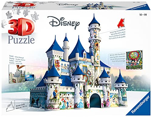 Ravensburger All Other Puzzles 3D Building Serie Maxi, Disney Fantasy Castle (12587)