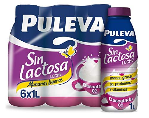 Puleva Leche Mañanas Ligeras Desnatada Sin lactosa - Pack 6