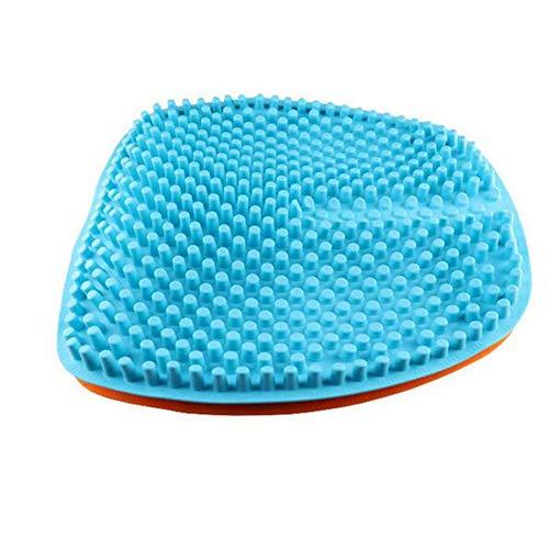 Orthopädisches Sitzkissen aus Gel dämpft die Schmerzen und sorgt für eine geradlinige Haltung und Entlastung des Steißbeines. Geeignet für Autos, Büros und Rollstühle,Blue
