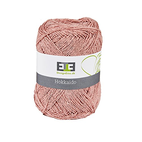 DesignEtte Hokkaido 100 procent garen bal 4ply natuurlijke vezels A1 (Suprime Quality) ruwe zijde, 11 rook roze