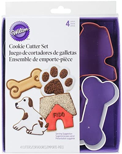 Wilton Metal Cookie Cutter Set, Pet Theme, 4-Pack