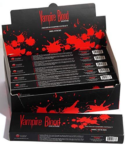 Devils Garden Original Vampire Blood Incense. Pack of 6. 100 Grams Each, 600 Grams Total