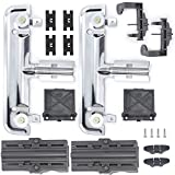 W10712395 Dishwasher Upper Rack Adjuster Kit With W10508950 Dish Rack Stop Clip Compatible with Whirlpool Dishwasher Replace AP5957560 W10350375, 3516330, PS10065979, W10250159, W10712395VP(18 Packs)
