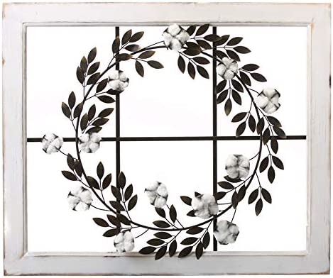 Cape Craftsmen Metal Wreath on Window Frame 3 Max 84% OFF 32 - Inches 26 Memphis Mall x