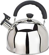 FACAZ Czajnik do herbaty ze stali nierdzewnej – ergonomiczny czajnik z gwizdkiem, duża pojemność czajniczek kuchenny (kolo...