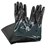 23.6' Length Rubber/PVC Material Sandblasting Protection Gloves with Particles Palm for Sandblast Blast Cabinets