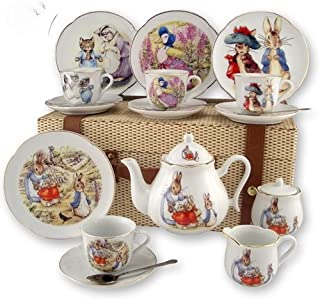 Reutter Porcelain Beatirx Potter Children's Kids Tea Set in Case
