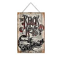 ブラックキーズ(3)木製のリストプラーク木の看板ぶら下げ木製絵画パーソナライズされた広告ヴィンテージウォールサイン装飾ポスターアートサイン
