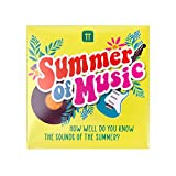 Summer of Music Trivia Game   Giftable Box of Fun Quiz Question Cards and Answers, Gifts for Friends, Family, Stocking Filler, Travel, After Dinner Party