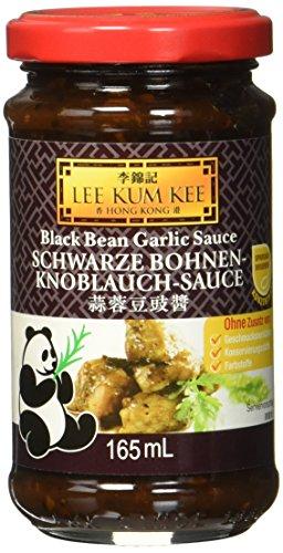 Lee Kum Kee Schwarze Bohnen Knoblauch Sauce (aus China, würzig, ohne Glutamat, ohne Konservierungsstoffe, ohne Farbstoffe) 1 x 165 ml