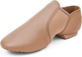 Leather Jazz Slip-On Dance Shoes for Girls Boys Toddler Kid