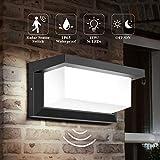 DECMAY lámpara de pared LED para exteriores, iluminación exterior de 18 vatios IP65, luz de control de inducción de radar cuadrada a...
