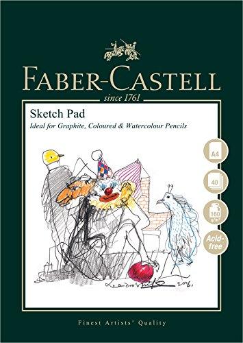 Faber-Castell Art & Graphic Skizzenblock, A4 160 g / m² Block mit 40 Blatt