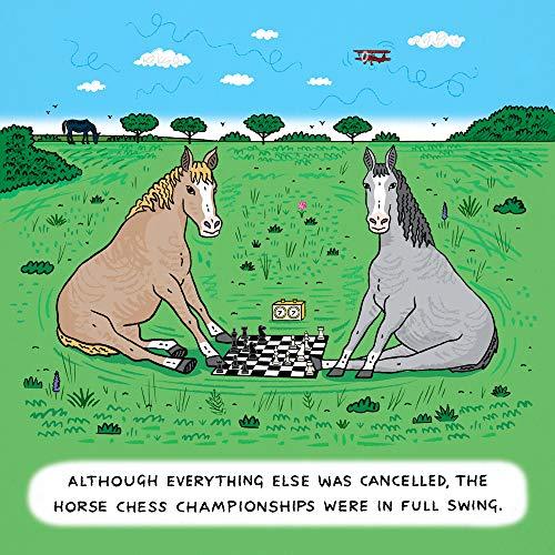 Iota Illustration Horse Ajedrez - Póster de cómic divertido por Oliver Lake
