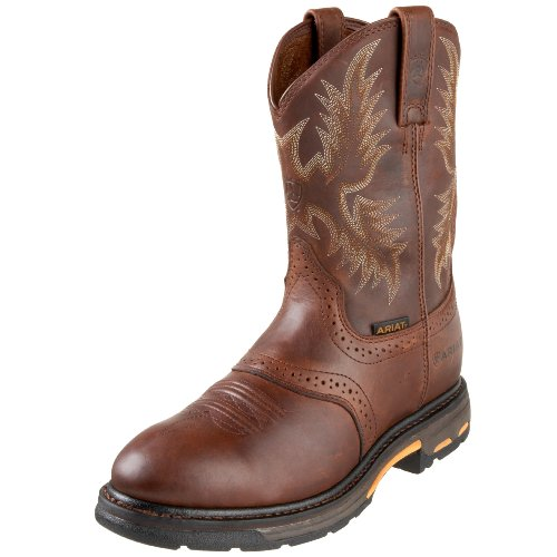 Ariat Workhog Pull-on Work Boot – Men's Leather, Round Toe, Western Work Boot, 9 D US